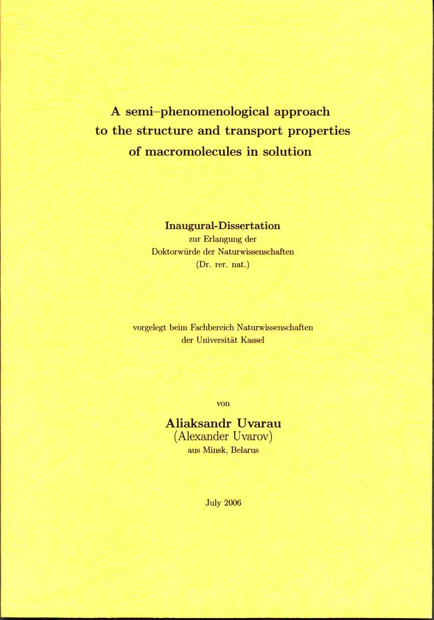The published thesis comprises four documents in a box, assembled ...